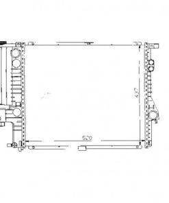 Radiador 01-BW1400. RAD. BMW (E39)